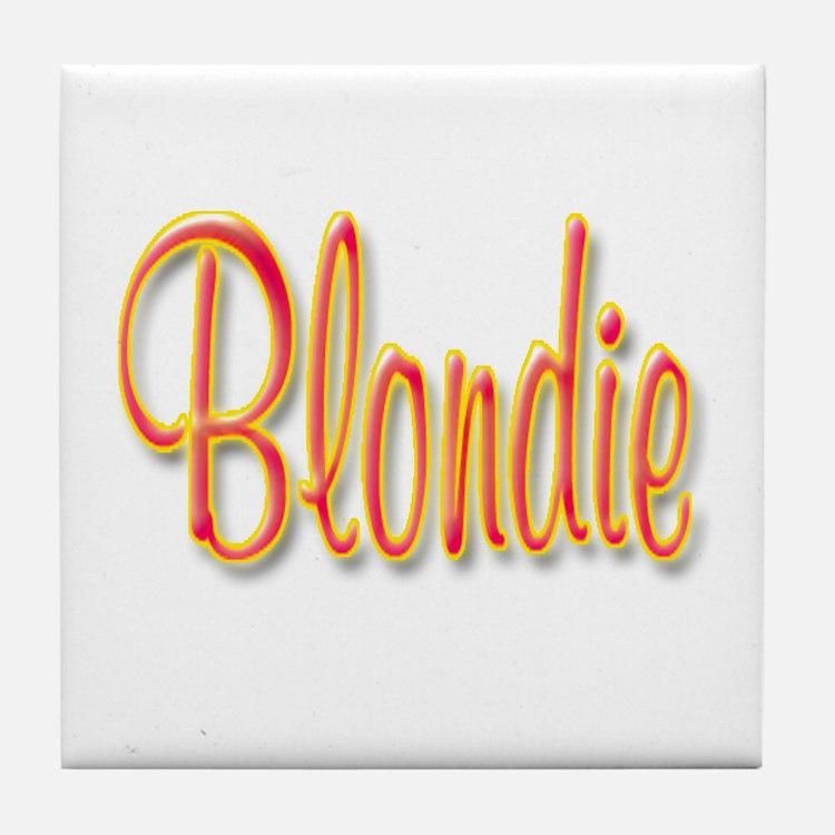 Blondie Tile Coaster