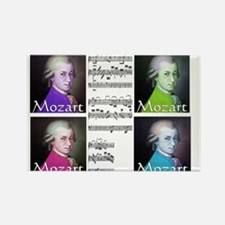 Mozart Rectangle Magnet