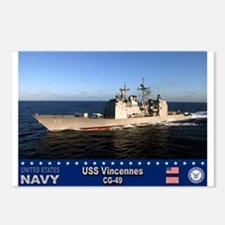 USS Vincennes CG-49 Postcards (Package of 8)