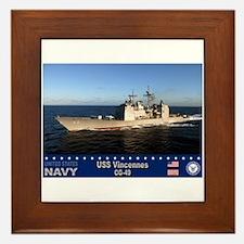 USS Vincennes CG-49 Framed Tile