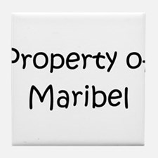 Funny Maribel Tile Coaster