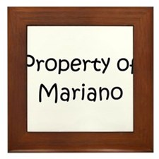 Cute Mariano Framed Tile