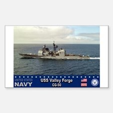 USS Valley Forge CG-50 Rectangle Decal