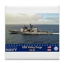 USS Valley Forge CG-50 Tile Coaster