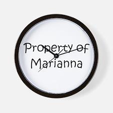 Funny Marianna Wall Clock