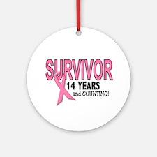 Breast Cancer Survivor 14 Years Ornament (Round)