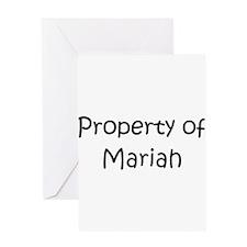 Unique Mariah Greeting Card
