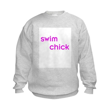 Swim Chick Kids Sweatshirt