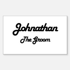 Johnathan - The Groom Rectangle Decal