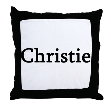 Christie - Personalized Throw Pillow