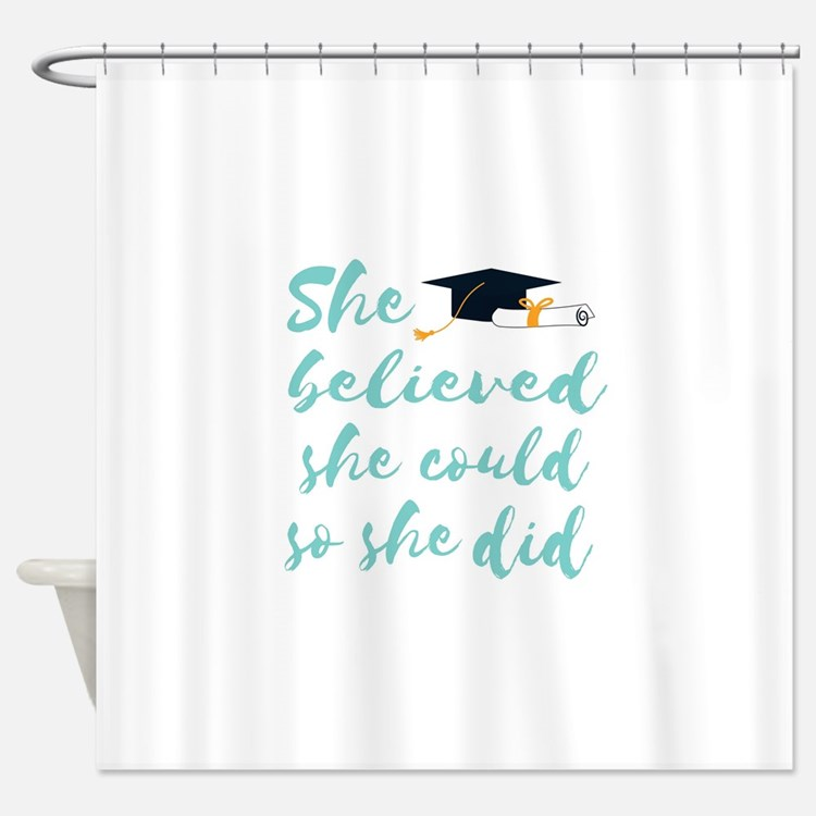 Graduation gift Shower Curtain