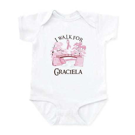 I walk for Graciela (bridge) Infant Bodysuit