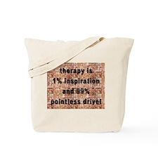 one percent inspiration Tote Bag