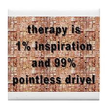 one percent inspiration Tile Coaster