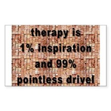 one percent inspiration Rectangle Decal