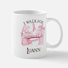 I walk for Luann (bridge) Mug