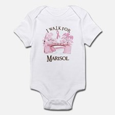 I walk for Marisol (bridge) Infant Bodysuit