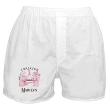 I walk for Marilyn (bridge) Boxer Shorts