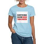 Katrina Blew, Bush Sucked Women's Pink T-Shirt