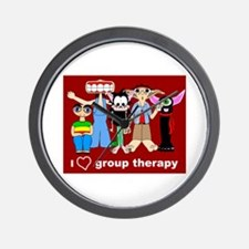 i love group therapy Wall Clock