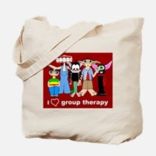 i love group therapy Tote Bag