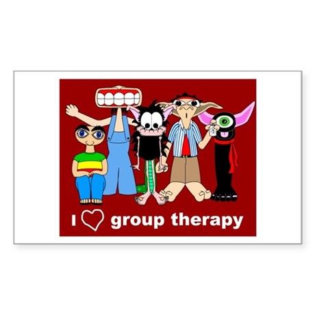 i love group therapy Rectangle Sticker