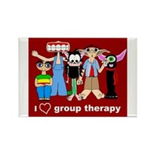 i love group therapy Rectangle Magnet