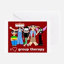 i love group therapy Greeting Card