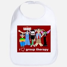 i love group therapy Bib