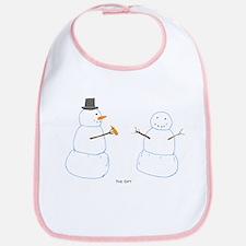 Snowman Donor The Gift Bib