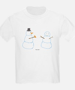 Snowman Donor The Gift Kids T-Shirt