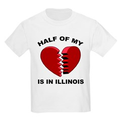 Heart In Illinois Kids T-Shirt