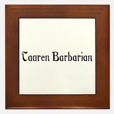 Tauren Barbarian Framed Tile