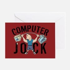Geek Computer Jock Greeting Card
