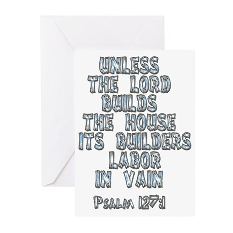 Psalm 127:1 Greeting Cards (Pk of 20)