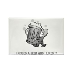 Kissed A Beer Rectangle Magnet (10 pack)