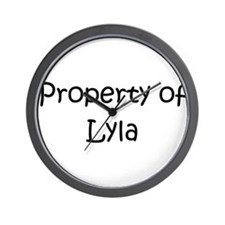Unique Lyla Wall Clock