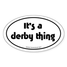 Derby Thing Oval Decal