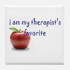 therapist's favorite Tile Coaster