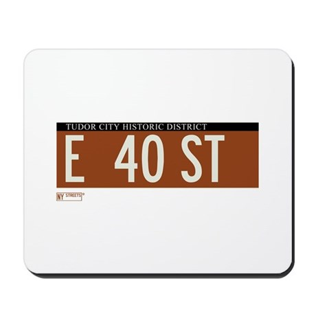 40th Street in NY Mousepad