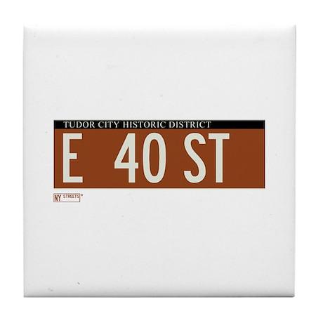 40th Street in NY Tile Coaster