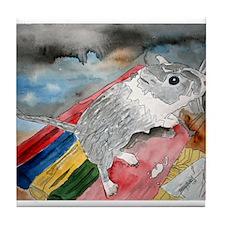 gerbil pet portrait art gift Tile Coaster