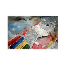 gerbil pet portrait art gift Rectangle Magnet