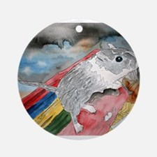 gerbil pet portrait art gift Ornament (Round)