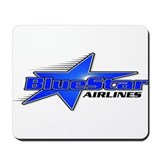 Blue star Mouse Pads
