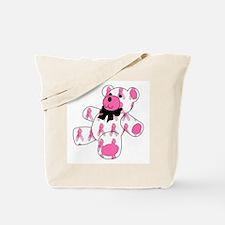 Breast Cancer Ribbon Bear Tote Bag