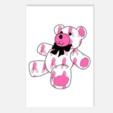Breast Cancer Ribbon Bear Postcards (Package of 8)