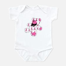 Breast Cancer Ribbon Bear Infant Creeper