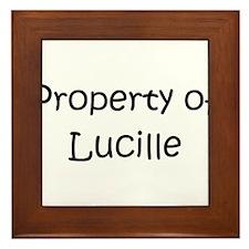 Cool Lucille Framed Tile