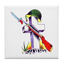 Remember Fallen Soldiers Tile Coaster